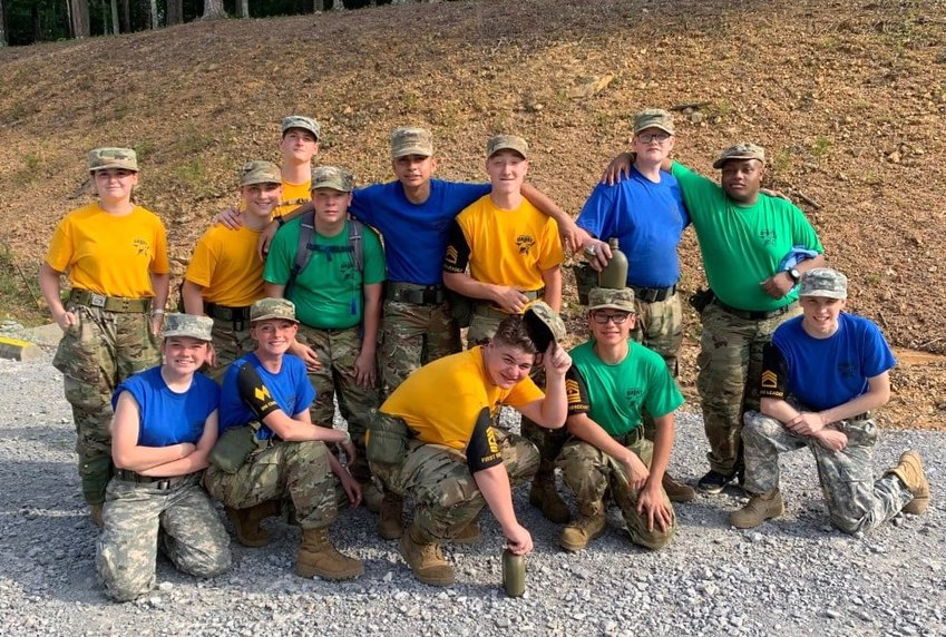 Some JROTC participants from Jasper High School's program took part in the JROTC Cadet Leadership Challenge over the summer.