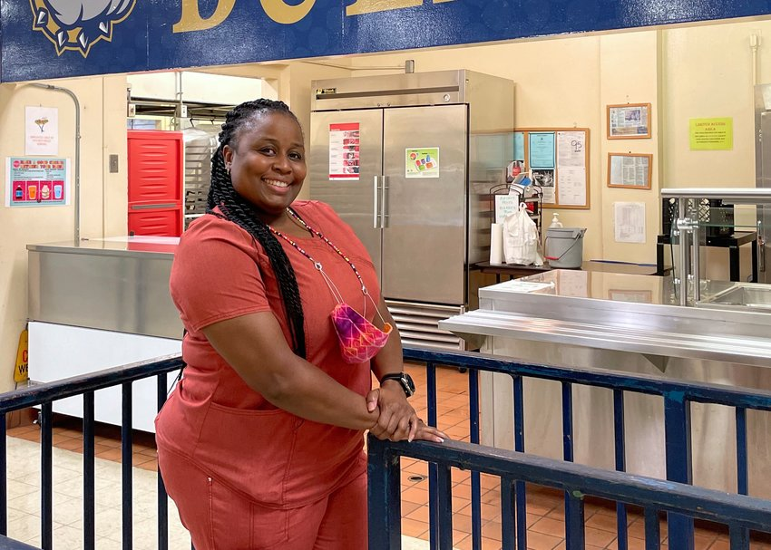 Lamonica Green, Dora High's lunchroom manager, cooked for all of the school's students over four days recently.