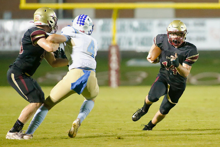 Sumiton Christian's Jack Gable (14) runs in the open field against Coosa Christian during their game Friday night.