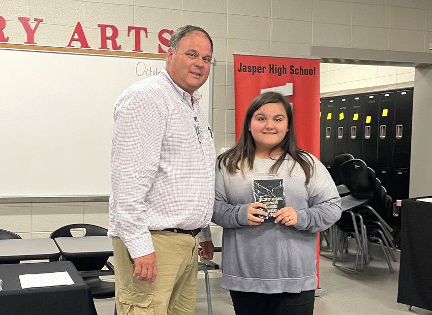 Pictured is Rebekah Nordin of Oakman High School, the junior division winner of the Walker County Cattlemen's Association beef cook-off.