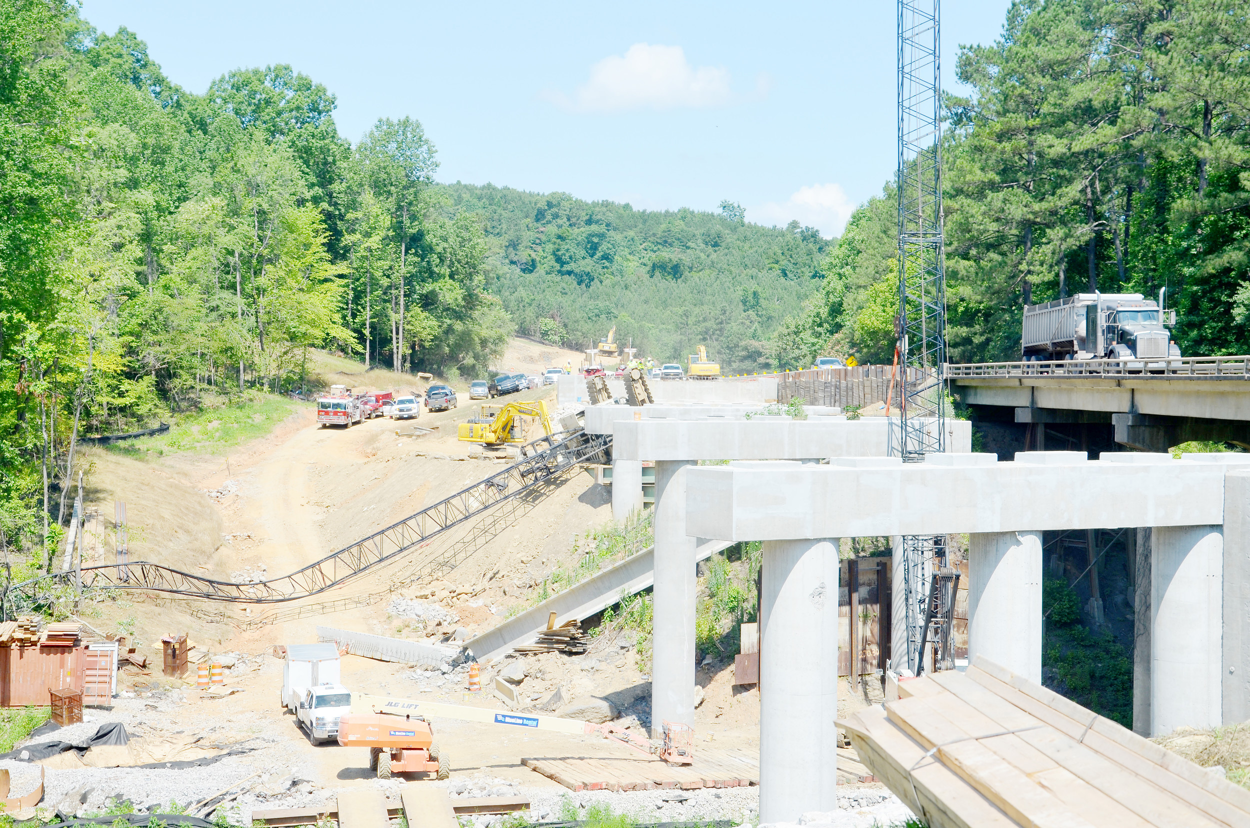 A�62-year-old man from Tarrant died Monday when the crane he was operating overturned at a construction site on Alabama Highway 269 near Gorgas Steam Plant. Daily Mountain Eagle - James Phillips
