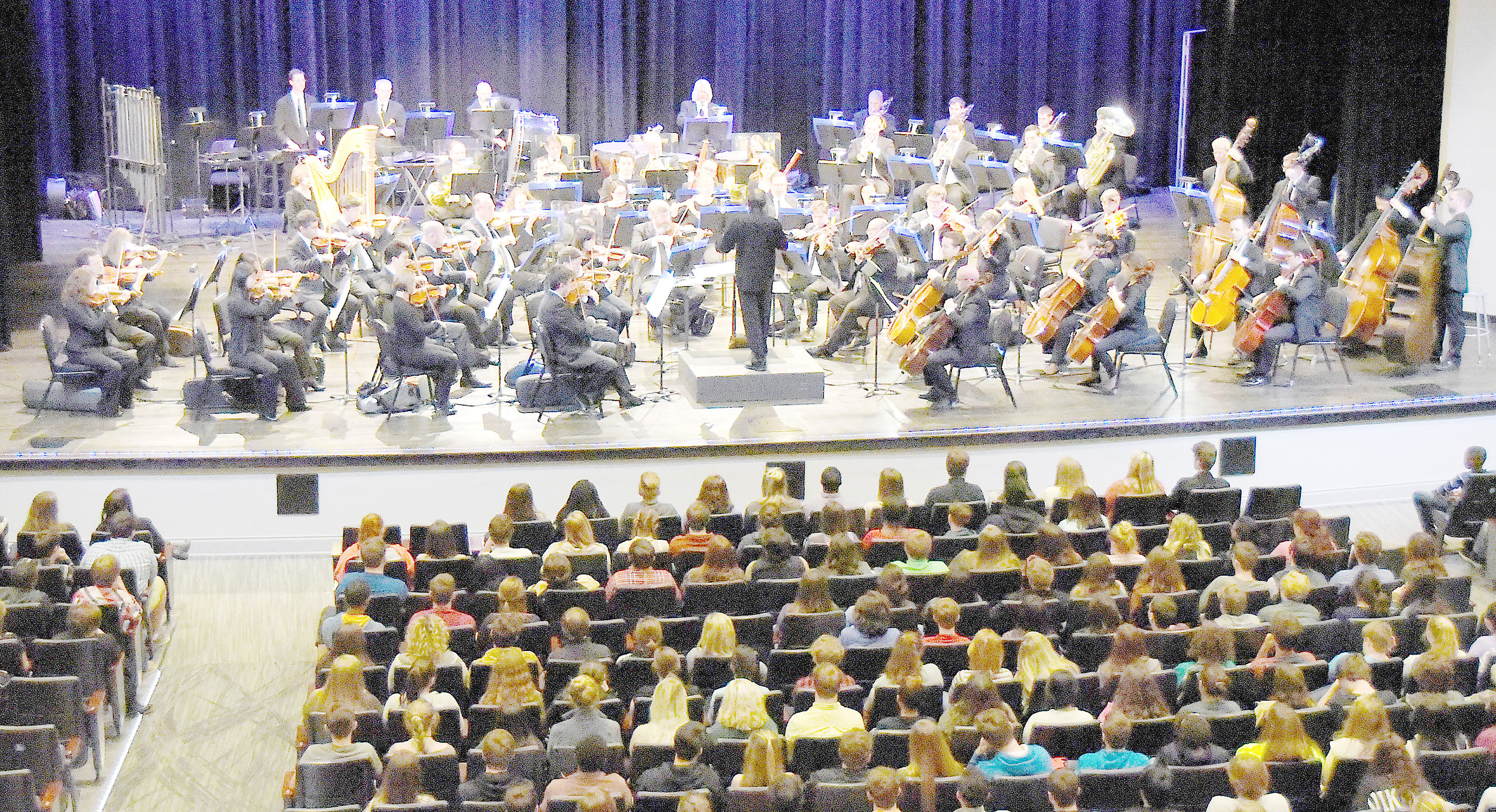 The Alabama Symphony Orchestra performed a concert in the Pam Brown Theater Wednesday afternoon for members of the bands from Walker and Cordova high schools and Maddox Middle School, as well as members of the Encore Show Choir at Walker. Daily Mountain Eagle - Ron Harris