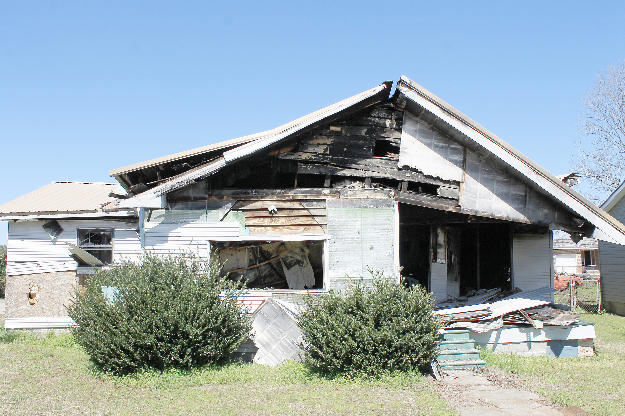 A vacant home damaged by fire on Mound Avenue is one of the properties being pursued for demolition under the city of Cordova's new dangerous buildings ordinance. Daily Mountain Eagle - Jennifer Cohron