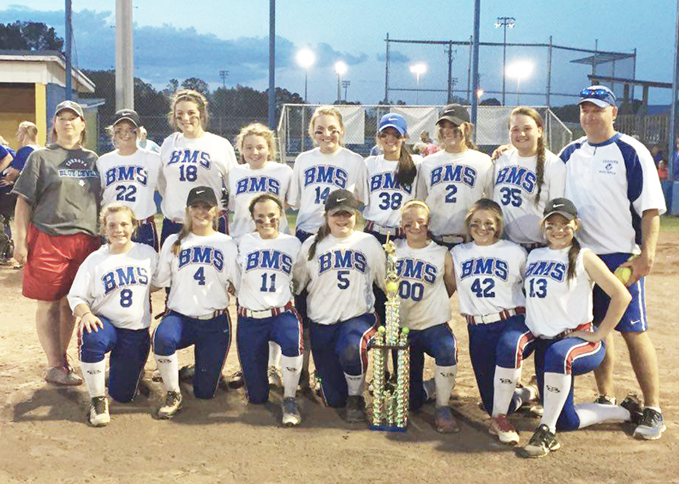 The Bankhead Middle School softball team won its third-consecutive Walker County Championship, finishing the season with a remarkable 36-1 record.  –  Special to the Eagle