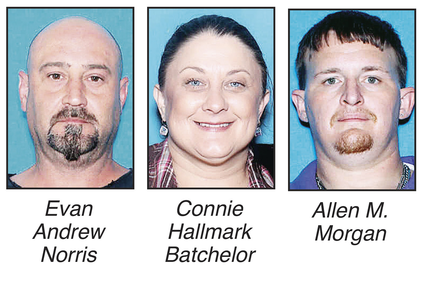 Three Walker County residents received federal prison sentences this month for conspiring to traffic methamphetamine, Walker County Sheriff Jim Underwood announced Thursday.