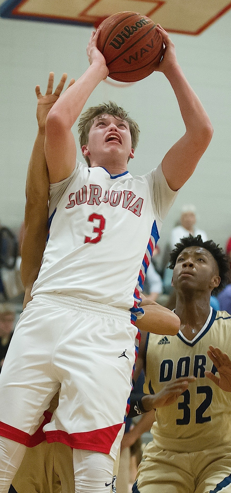 Cordova's Graham Martin shoots against Dora during their game this season. Martin signed with Huntingdon College last week.