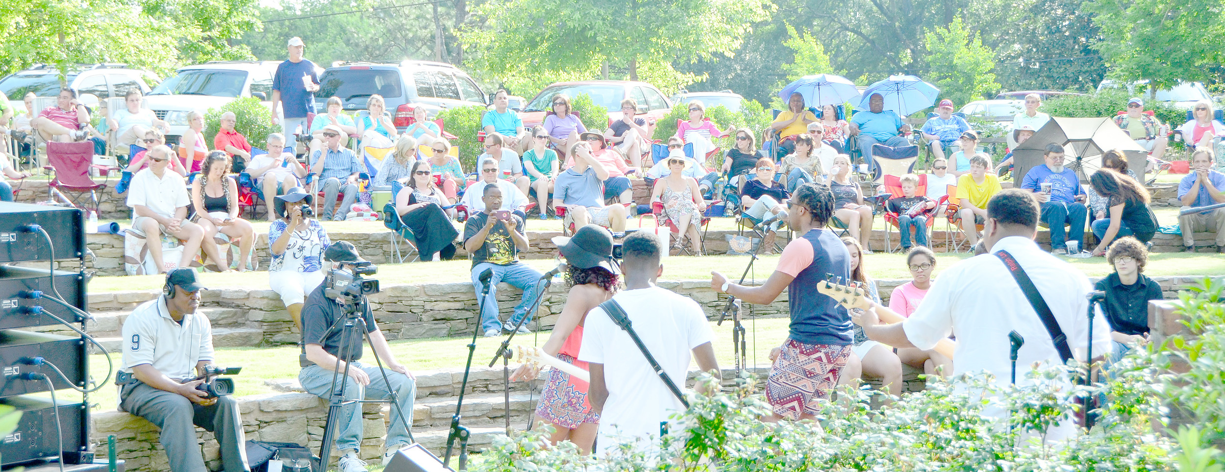 The Rubberband Effect performs at Jazz in the Park in 2015. The event, typically held Memorial Day weekend at the Bankhead House and Heritage Center, kicks off the Walker Area Community Foundation's summer concert series. File photo - Ron Harris