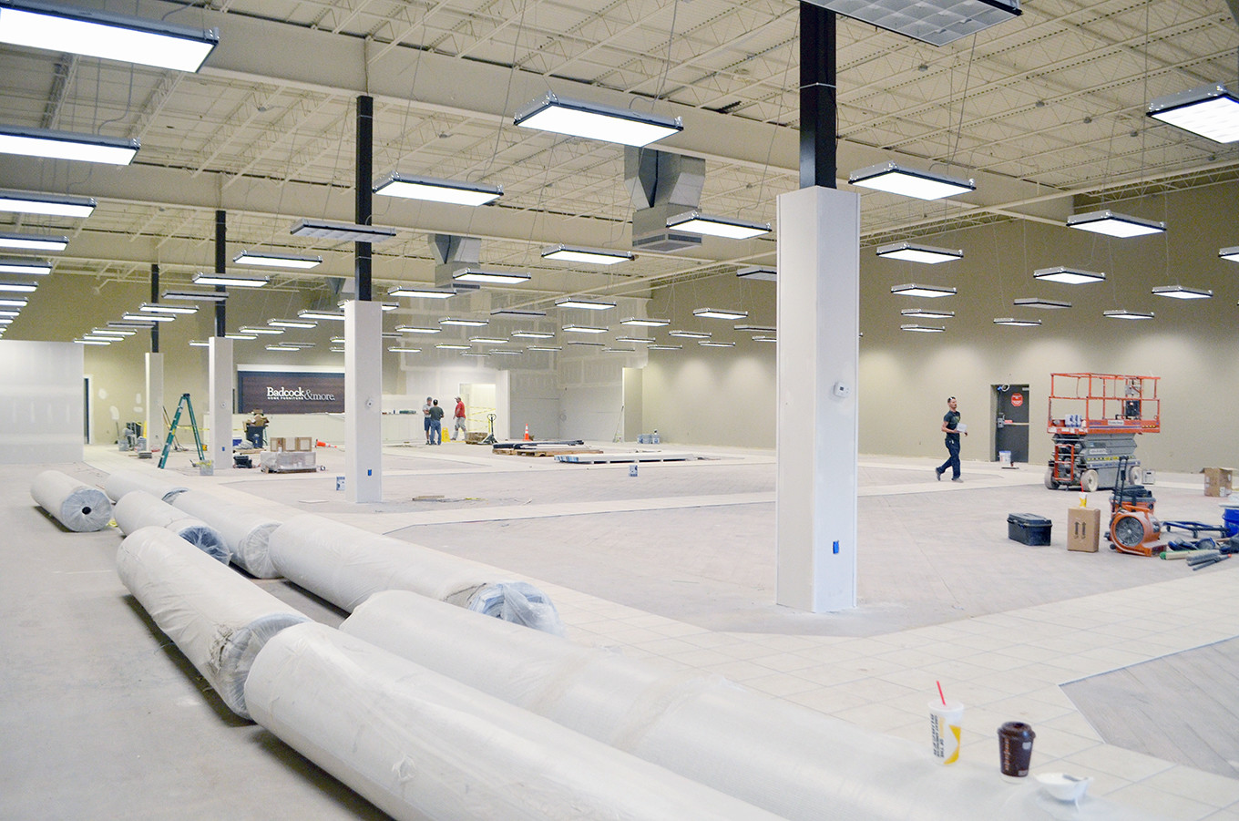 Workers Were Busy Inside The New Badcock Furniture In Jasper Earlier This  Week. The 13,383