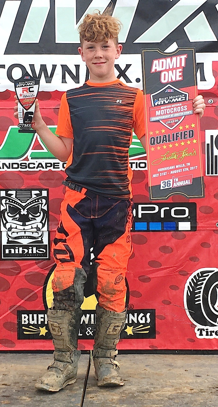 Jack Baker, 12, of Arley earned a spot in the Motocross Nationals with a sixth-place finish in the Mid-East Regional in Ohio last month.