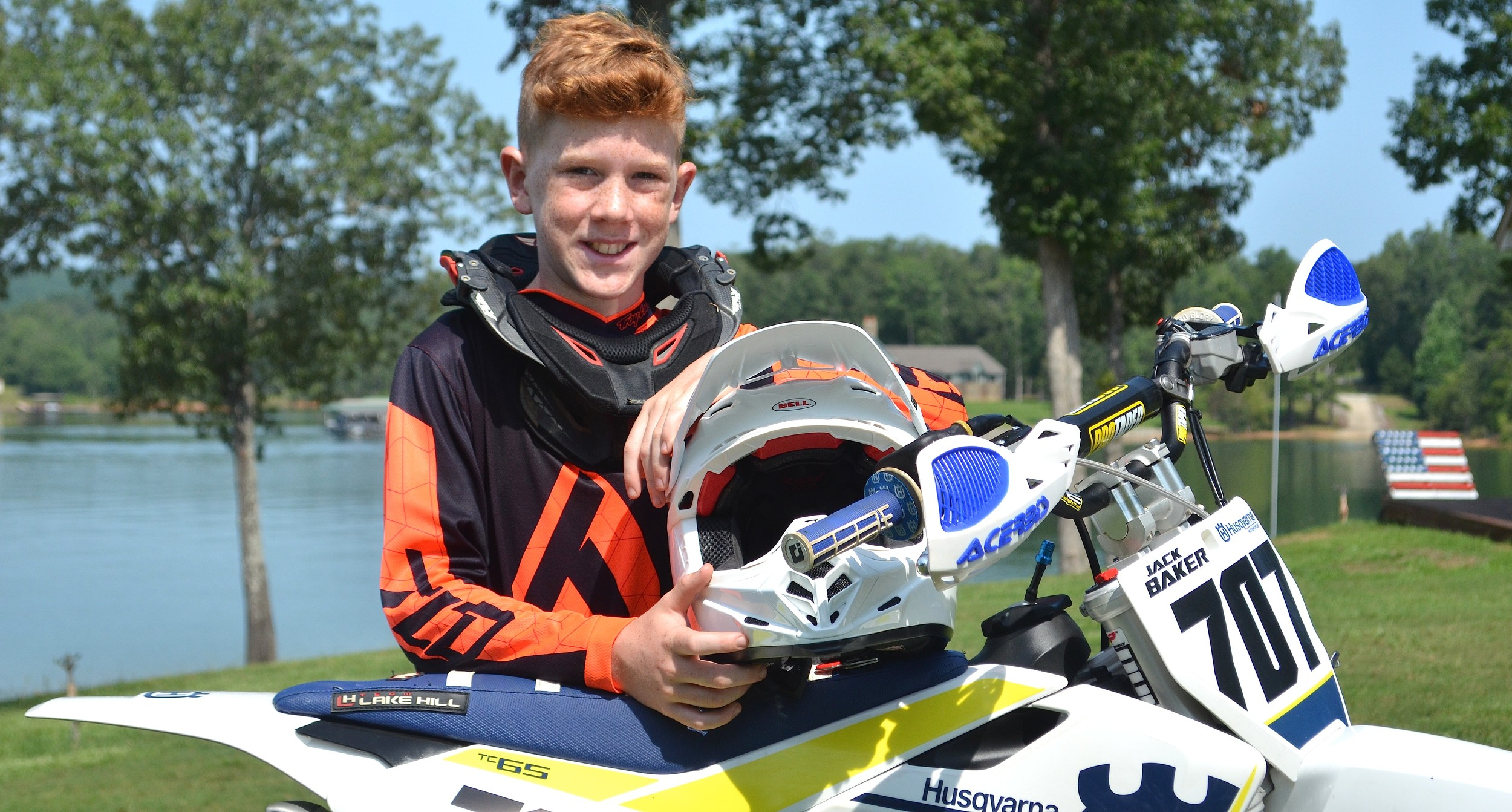 Jack Baker raced his way through the area and regional events to make the field in the Rocky Mountain ATV/MC National Motocross Championship at Loretta Lynn's Ranch in Hurricane Mills, Tenn., this week. Baker will be racing in the ages 7-11, 65cc modified division.