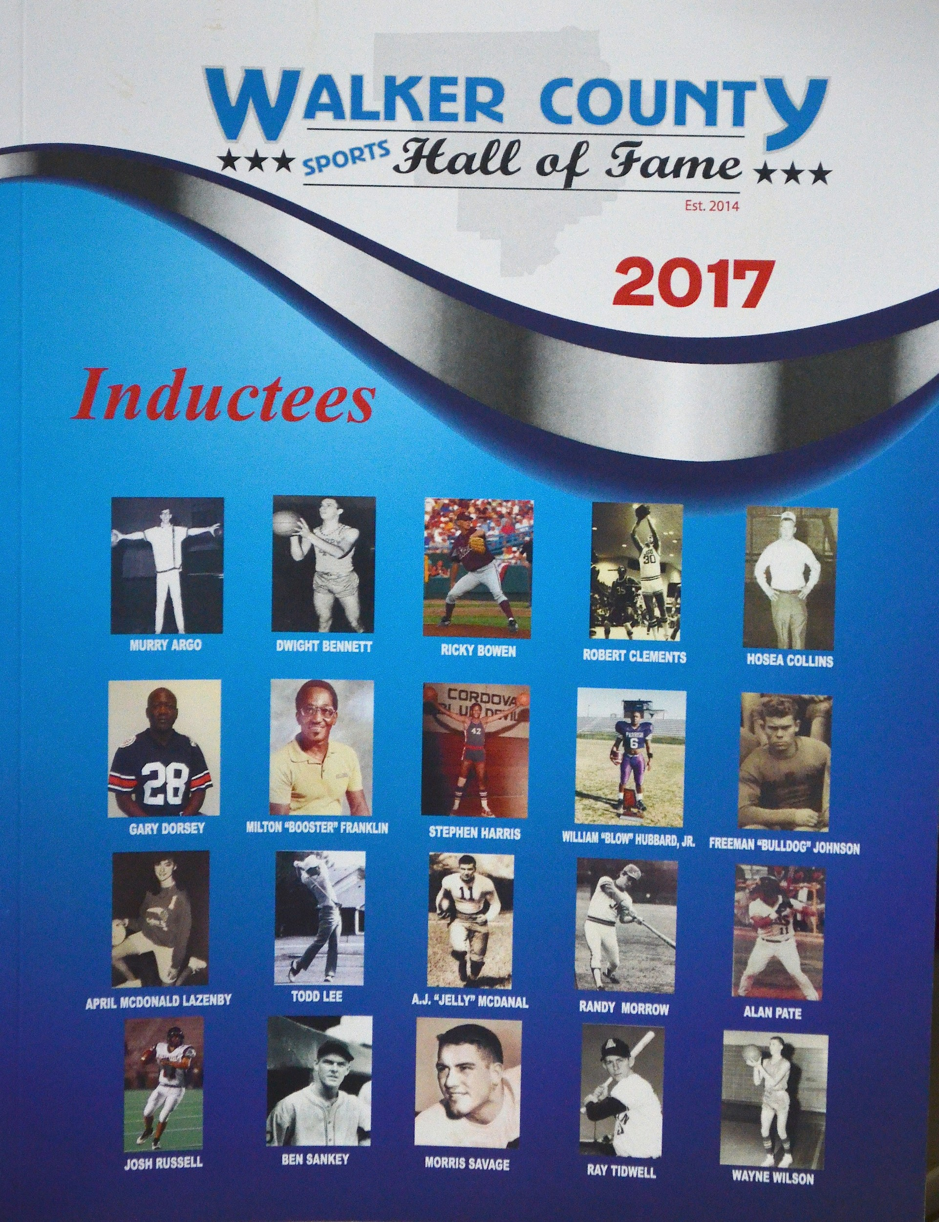 The 2017 Walker County Sports Hall of Fame class will be inducted on Saturday.