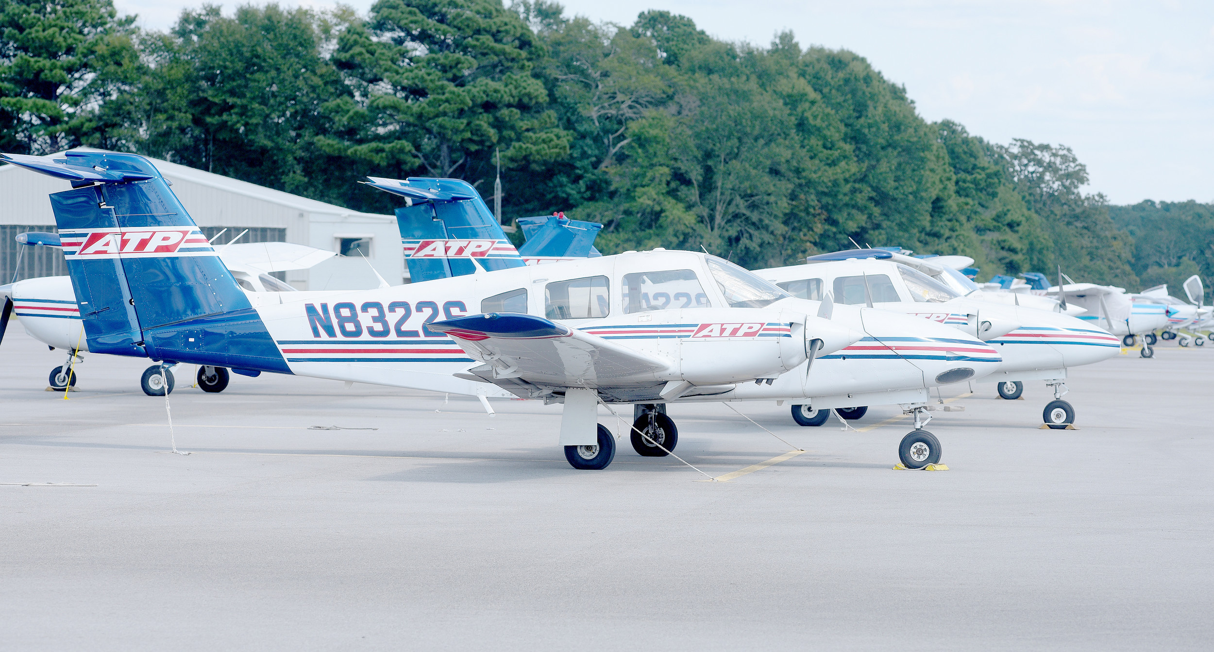 A number of planes from Jacksonville, Fla.-based ATP Flight School, which provides training and certification for pilots, are being kept at Bevill Field at the Walker County Airport to provide refuge from Hurricane Irma. Daily Mountain Eagle - Ron Harris
