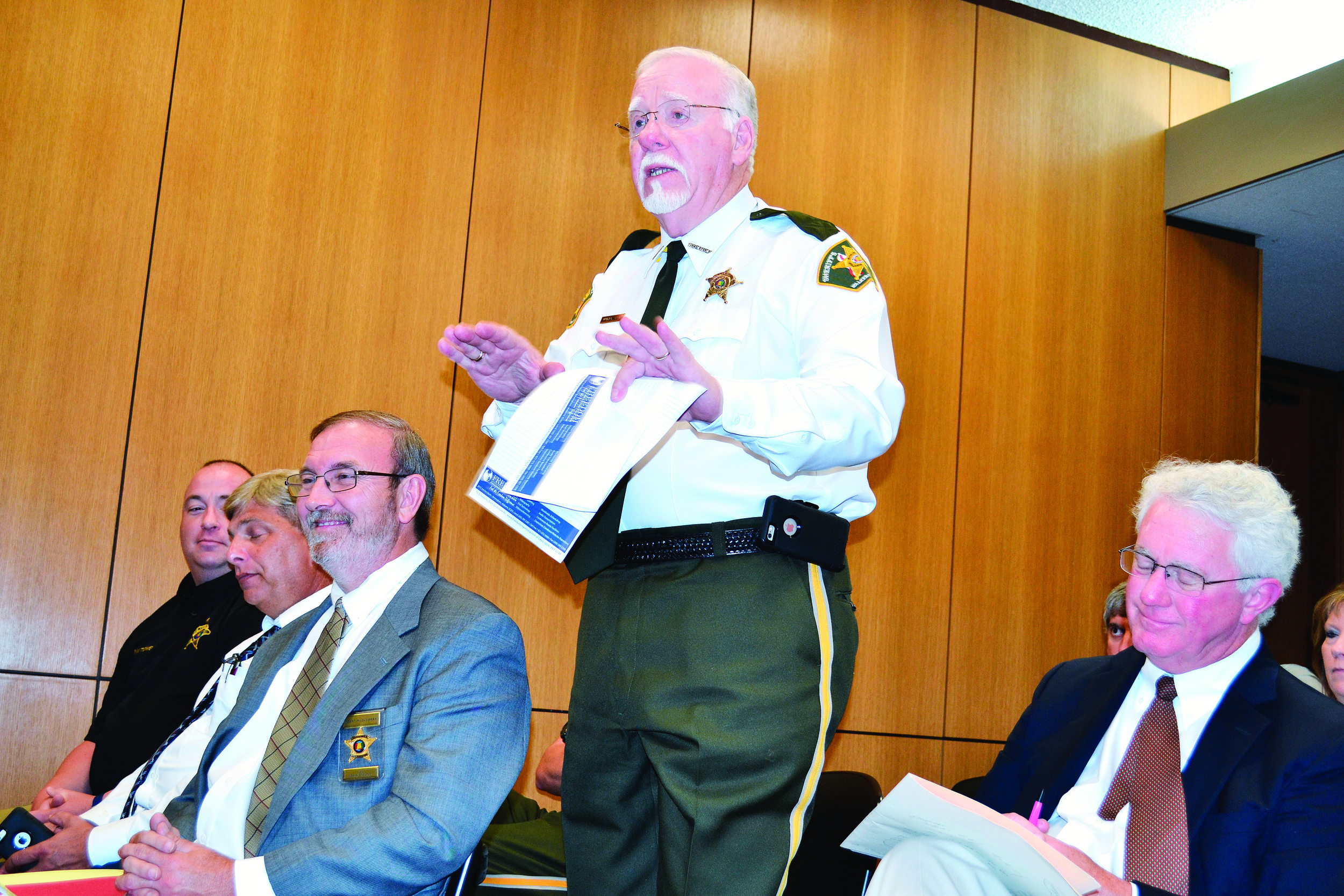 Walker County Sheriff Jim Underwood speaks to the Walker County Commission on Monday during a budget hearing. Daily Mountain Eagle - Ed Howell