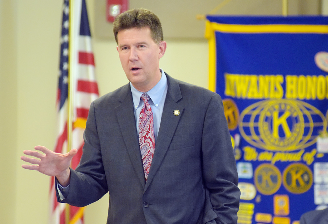 Alabama Secretary of State John Merrill was the guest speaker at Monday's meeting of the Kiwanis Club of Jasper. Merrill touched on a nunber of topics, including the upcoming U.S. Senate race between Republican Roy Moore and Democrat Doug Jones.