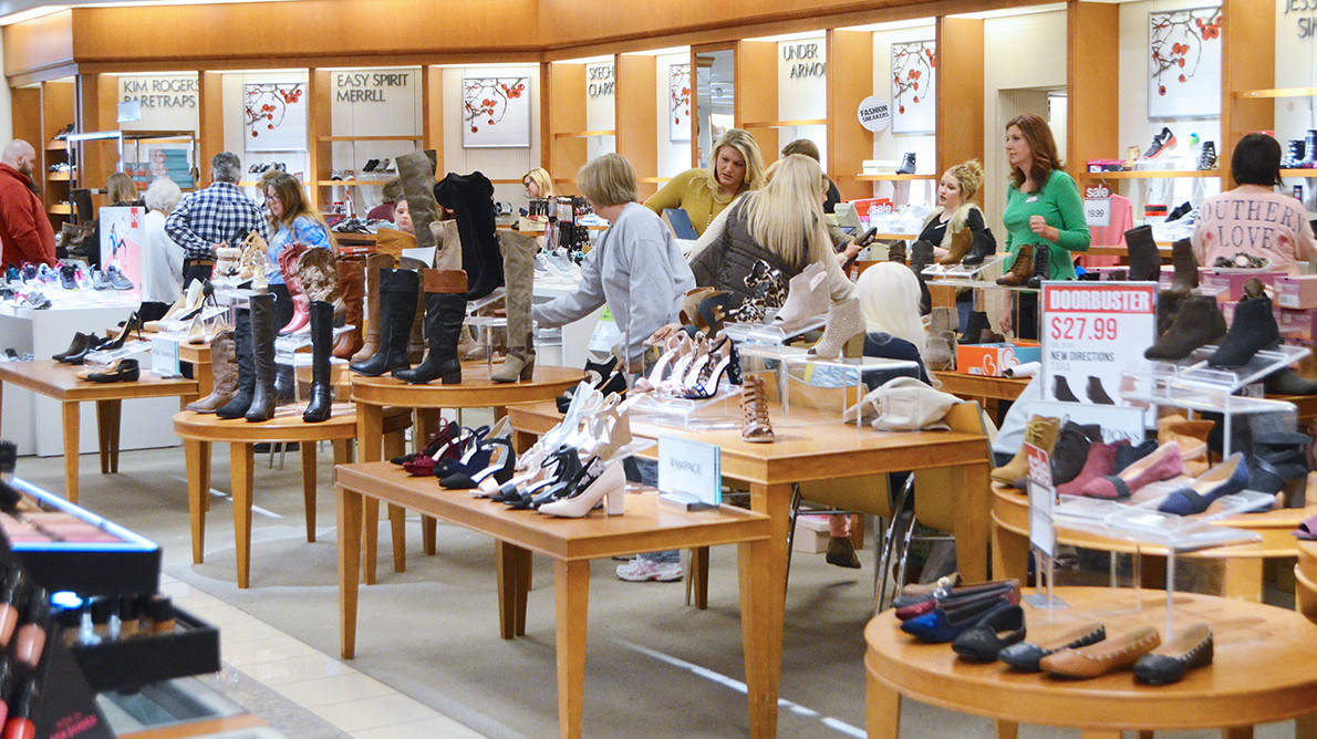 Large crowds were in Belk at Jasper Mall on Black Friday. One of the busiest areas of the store was the shoe department. But Black Friday isn't just for adults.