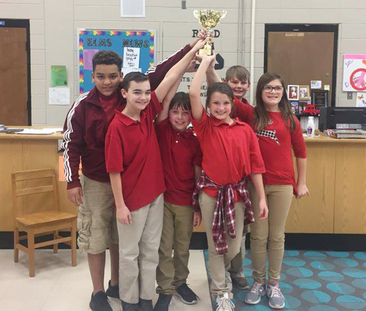 Valley Jr. High School's Quiz Bowl team won the East Lawrence Middle School Invitational Quiz Bowl Tournament Saturday.