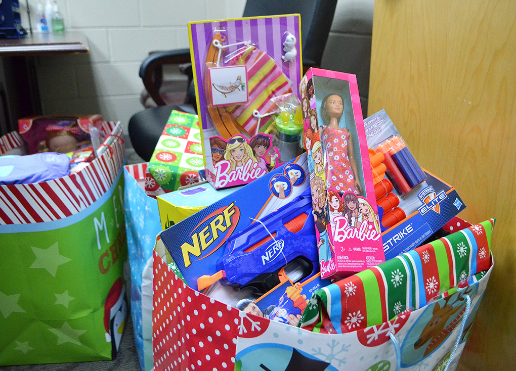 Each student in need in the Jasper City Schools system will receive a bag of wrapped gifts and clothing.