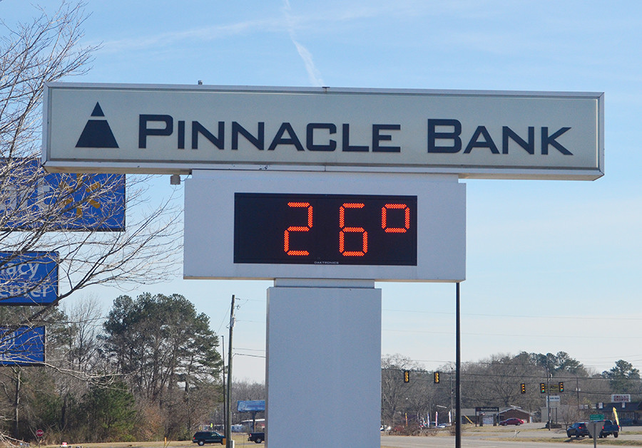 Temperatures remained well below freezing in Walker County on the first day of the new year. In Sumiton, the temperature was 26 degrees at 1 p.m. The National Weather Service's website listed 27 degrees as the high for Jasper on Monday. Today's projected high is 34 degrees.