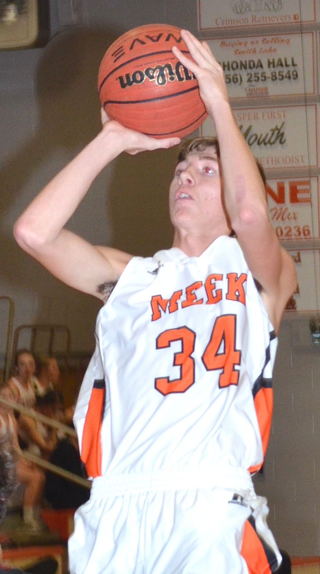 Meek's' Bryson Hudson scored 11 points in the Tigers' 84-81 victory over Oakman on Tuesday.