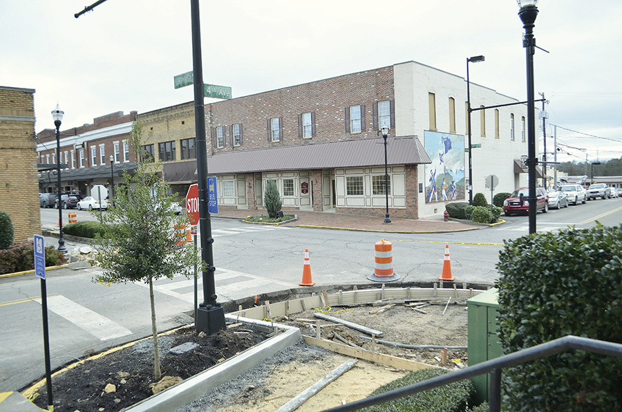 The streetscape in downtown Jasper is continuing, and will bring new sidewalks and trees to the district.