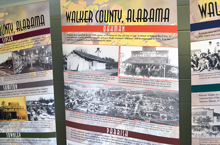 The Walker County, Alabama Bicentennial Traveling Exhibit features history from many towns and cities across Walker County.