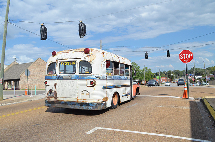 The WCCT rat rod bus will be featured at this weekend's World of Wheels custom car show in Birmingham. The bus  is shown rolling through downtown Jasper in September.