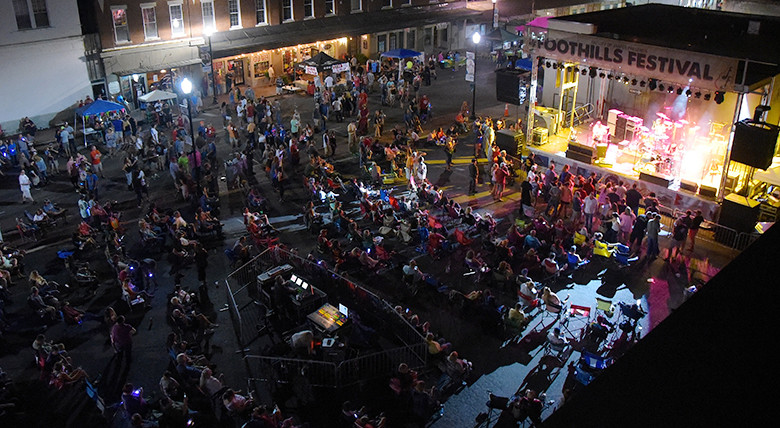 Thousands of music fans packed downtown Jasper for the 2017 Foothills Festival.