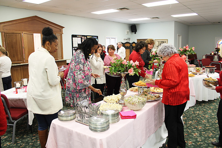 The annual  Valentine's Day Luncheon hosted each year by the Episcopal Church Women's group (ECW) of St. Mary's Episcopal Church in Jasper, is a major fundraiser, and one hundred percent of the proceeds from annual event goes to the St. Mary's Food Bank ministry.