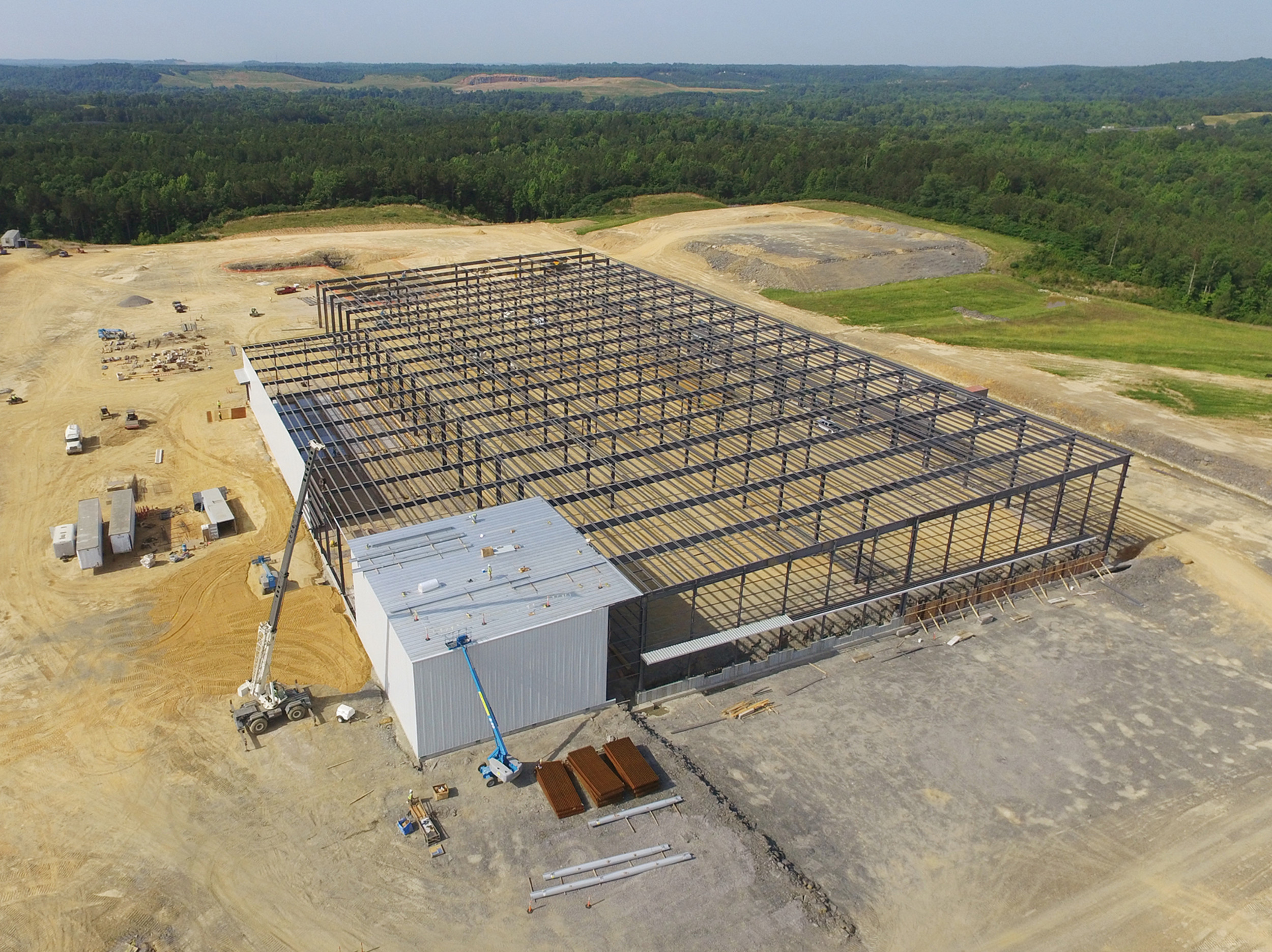 An aerial photo of the Yorozu construction project on Whitehouse Road in Jasper.  –  Photo courtesy of David Knight/Walker County Development Authority