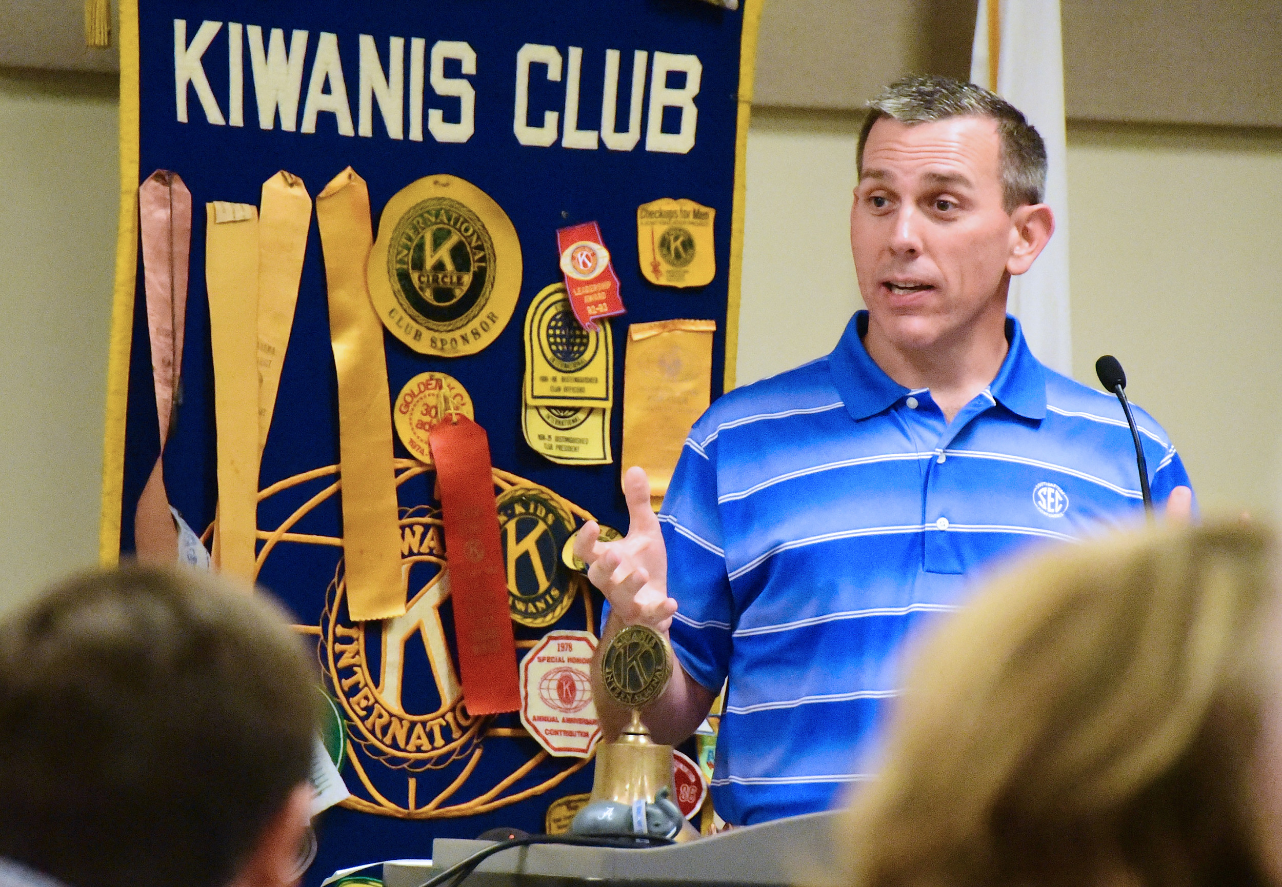 Jasper's Phillip Davenport, who is entering his third season as an SEC football official and 20th season overall, was the guest speaker at Monday's meeting of the Kiwanis Club of Jasper. Aside from officiating football, Davenport works as a physical therapist at Rehab South in Jasper.  Daily Mountain Eagle - Ron Harris