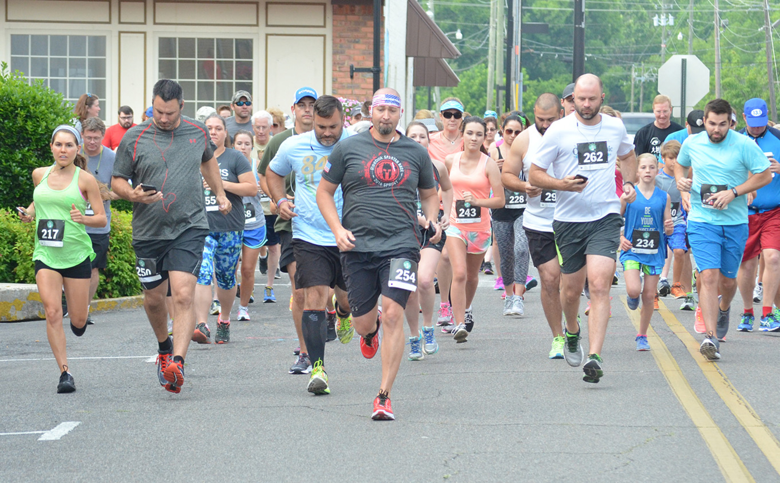 A large field of runners competed in the inaugural Tallulah 5K run in downtown Jasper earlier this year. Organizers of the inaugural Vike-4-Life 5K and fun run set for Thursday afternoon are hoping at least 125 runners will compete. The 5K run is set to begin at 6 p.m.  Daily Mountain Eagle - Johnathan Bentley