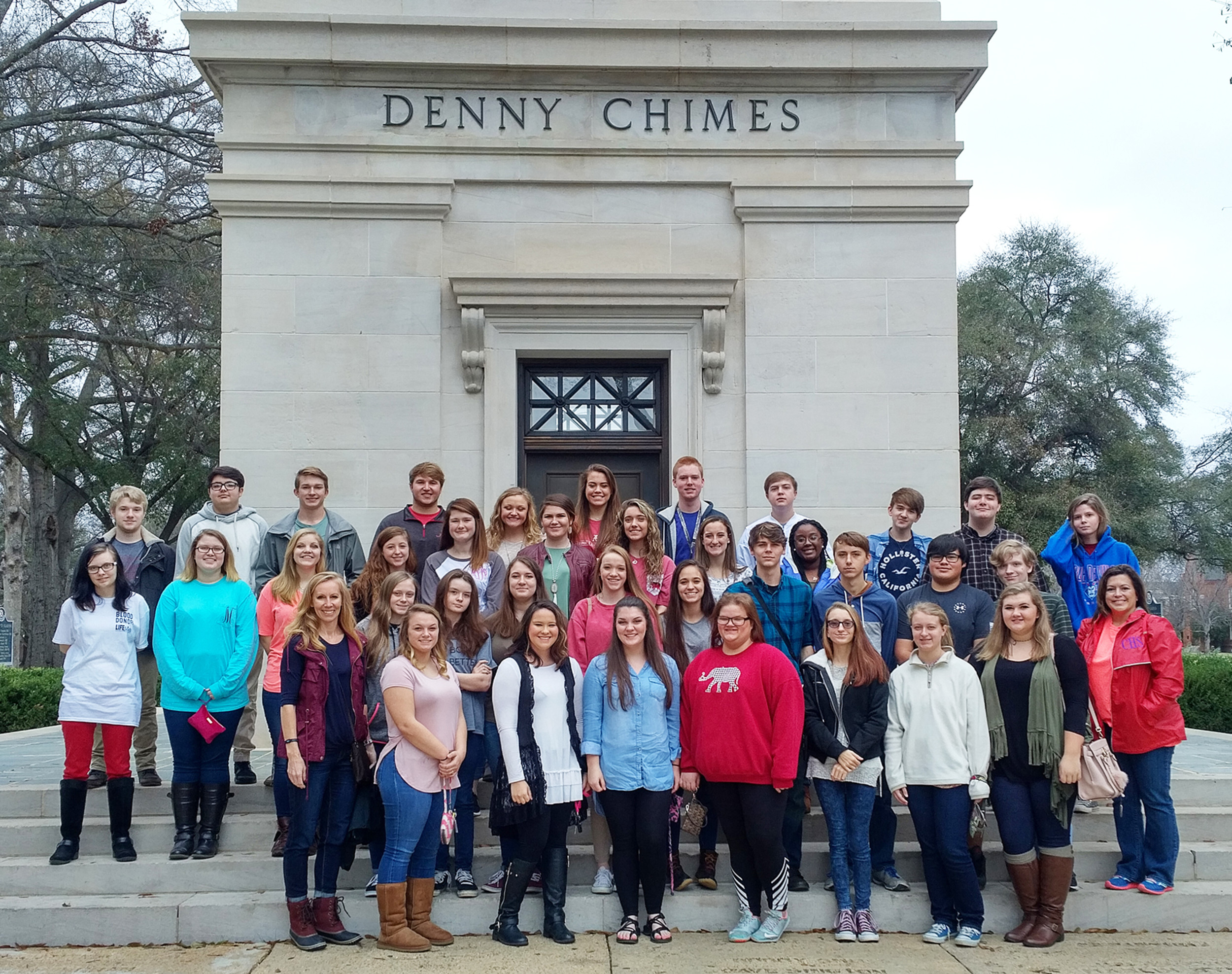 "CHS journalism students toured The University of Alabama with a stop at the School of Communication where faculty and staff met with them for a small group presentation about the field of communication as well as a tour of the Digital Media Center at Bryant-Denny Stadium. ""I had never been to a university campus before,"" Trent Gilmore said. ""So it was exciting to experience college life for a day.""  – Photo Courtesy of Cordova High School"