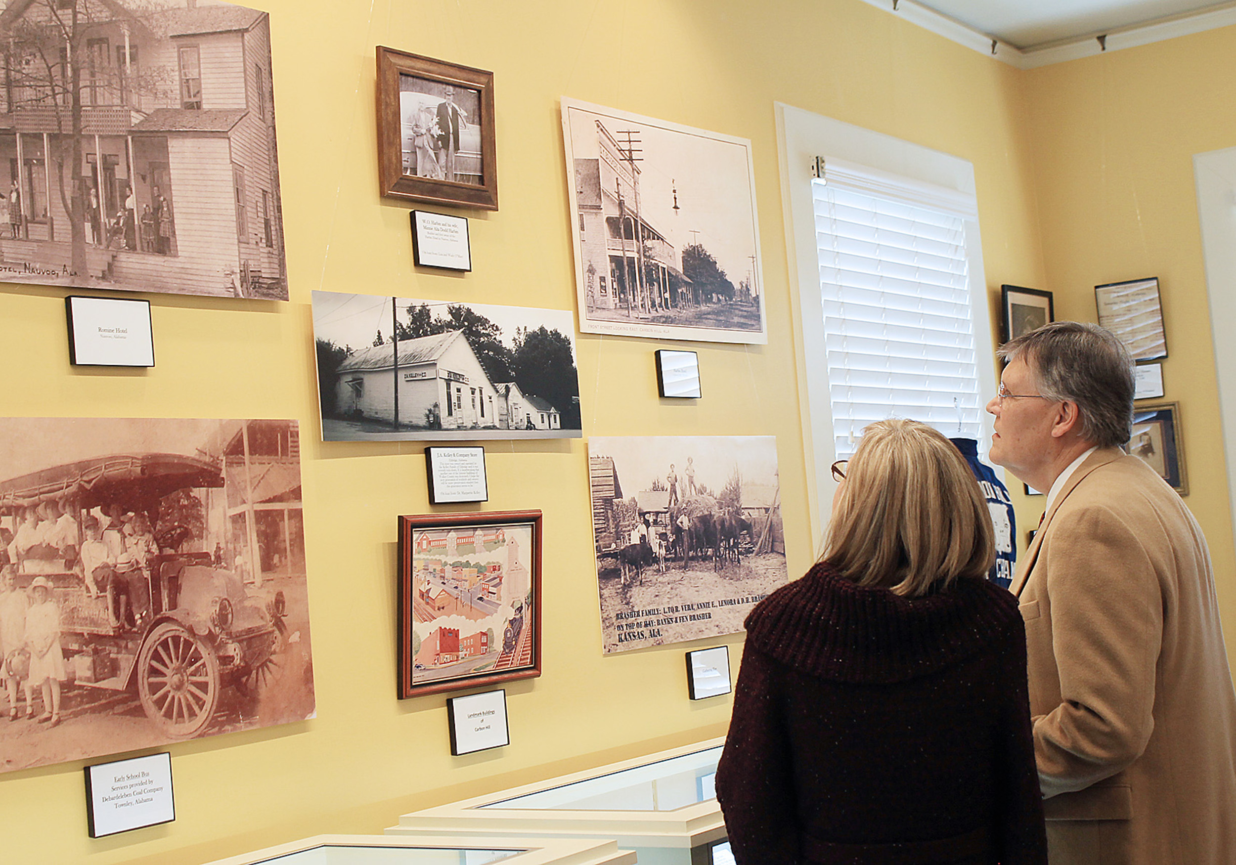 """Celebrating Our Communities: Chapter 1,"" an exhibit celebrating the histories of Carbon Hill, Eldridge, Kansas, Nauvoo and Townley, opened at the Bankhead House and Heritage Center on Feb. 14. The exhibit will remain up through June 9.  Daily Mountain Eagle - Jennifer Cohron"