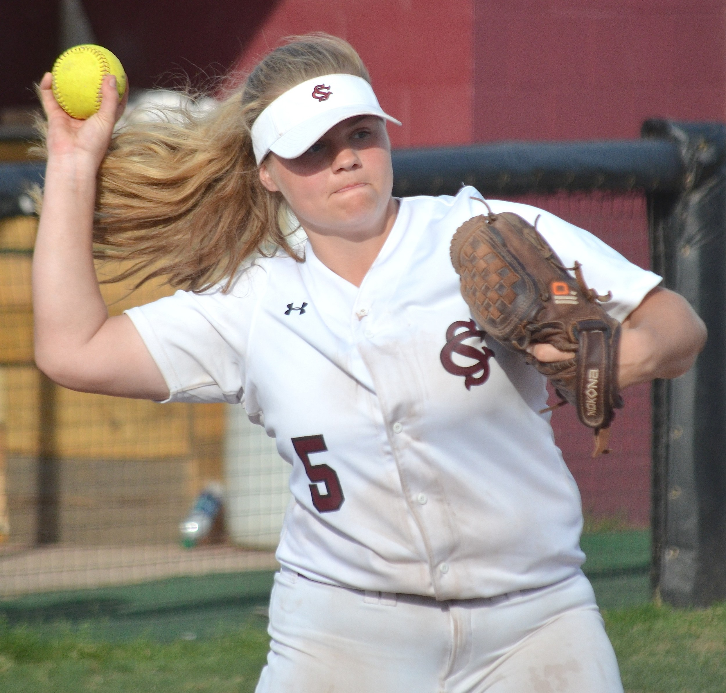 Sumiton Christian third baseman Taylor Whisonant throws to first base during the Eagles' 1-0, eight-inning win over Tuscaloosa County on Saturday in the Claw Classic. Sumiton Christian won the tournament, beating Vestavia Hills 9-2 in the championship game.