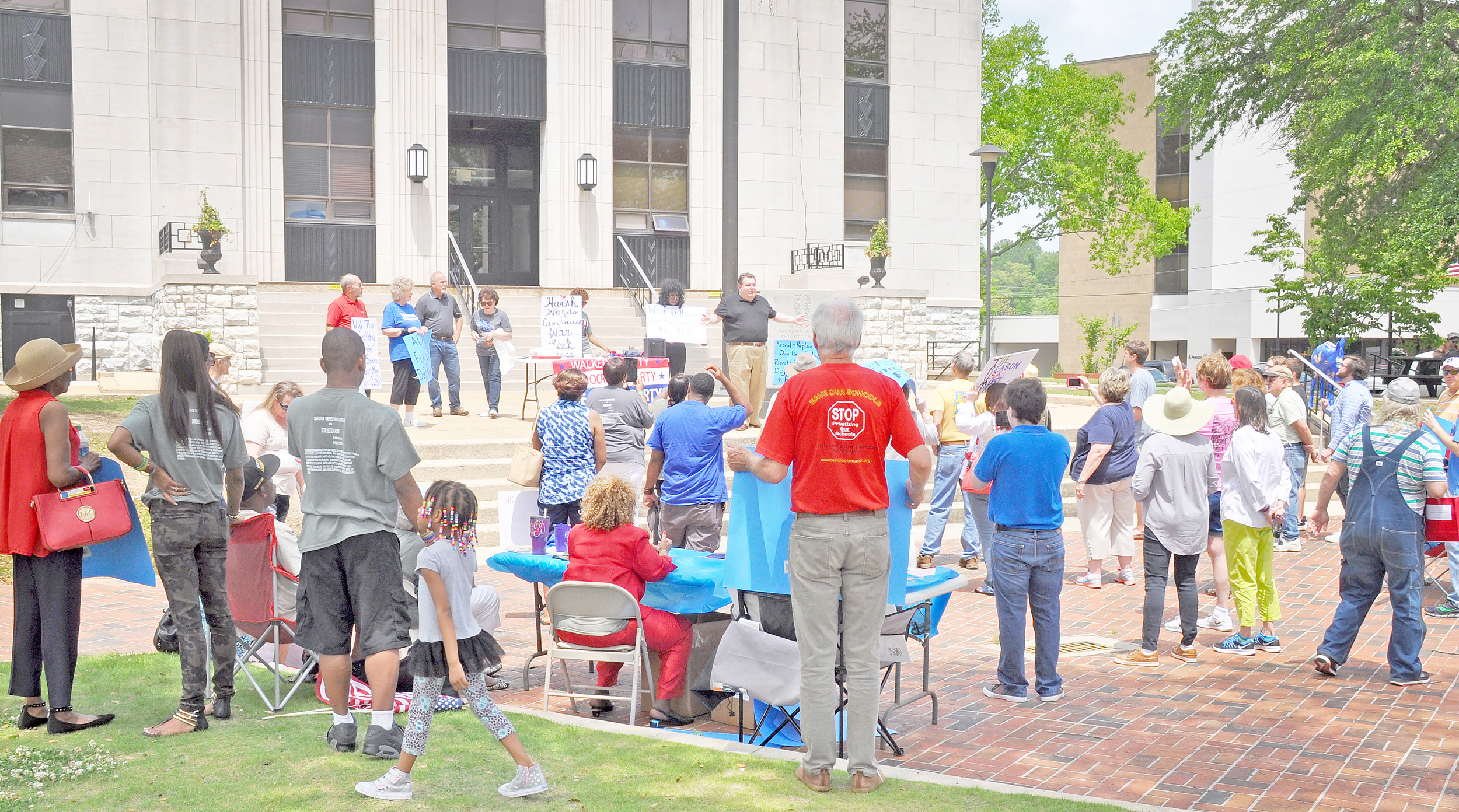 Approximately 40 people turned out for a rally and march Saturday that was sponsored by the Walker County Democratic Party. Daily Mountain Eagle - Dale Short