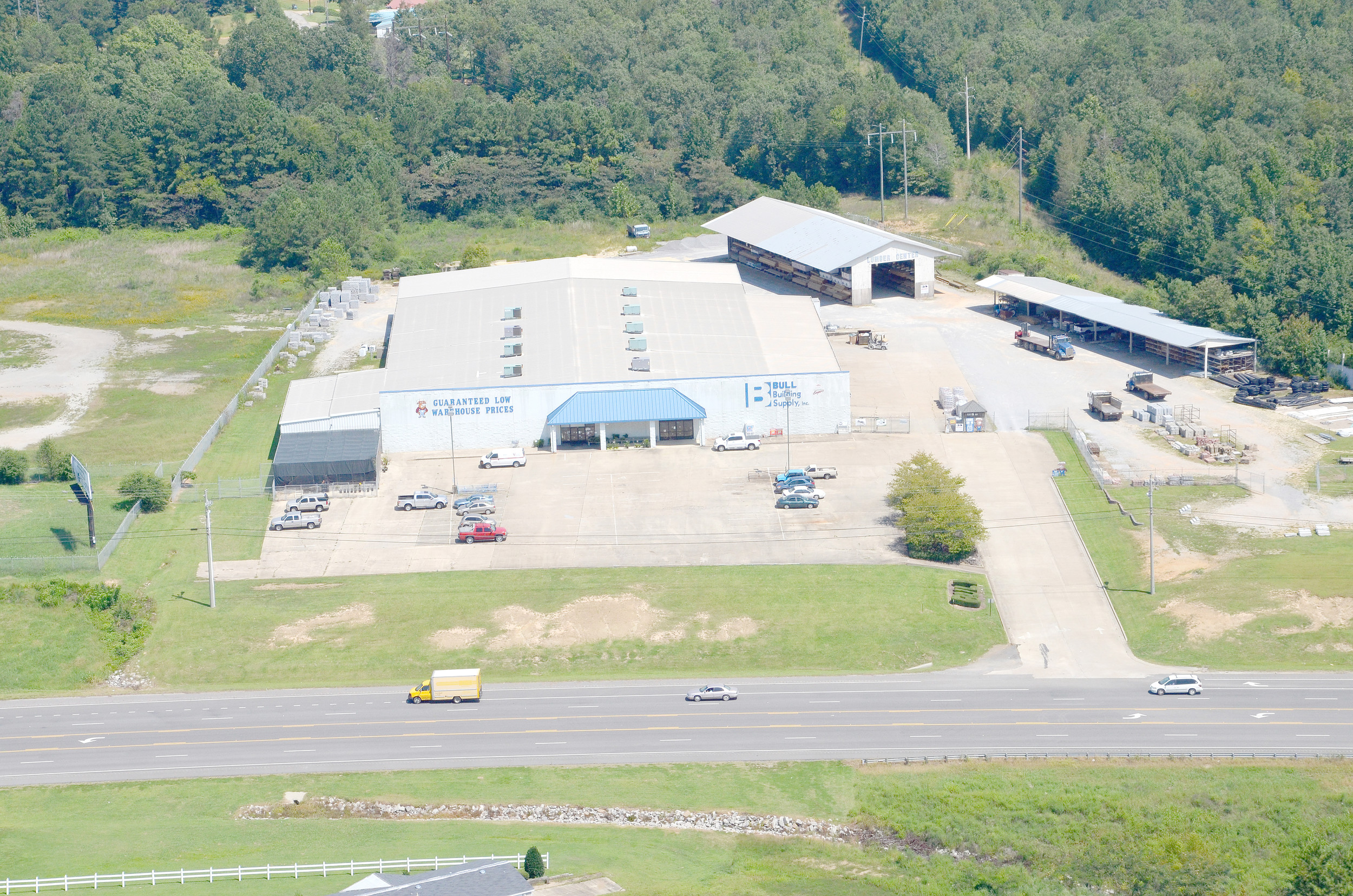 An aerial photo from 2012 shows Bull Building Supply in Jasper. Owners of the longtime business have announced they are closing the business. Daily Mountain Eagle file - Ron Harris