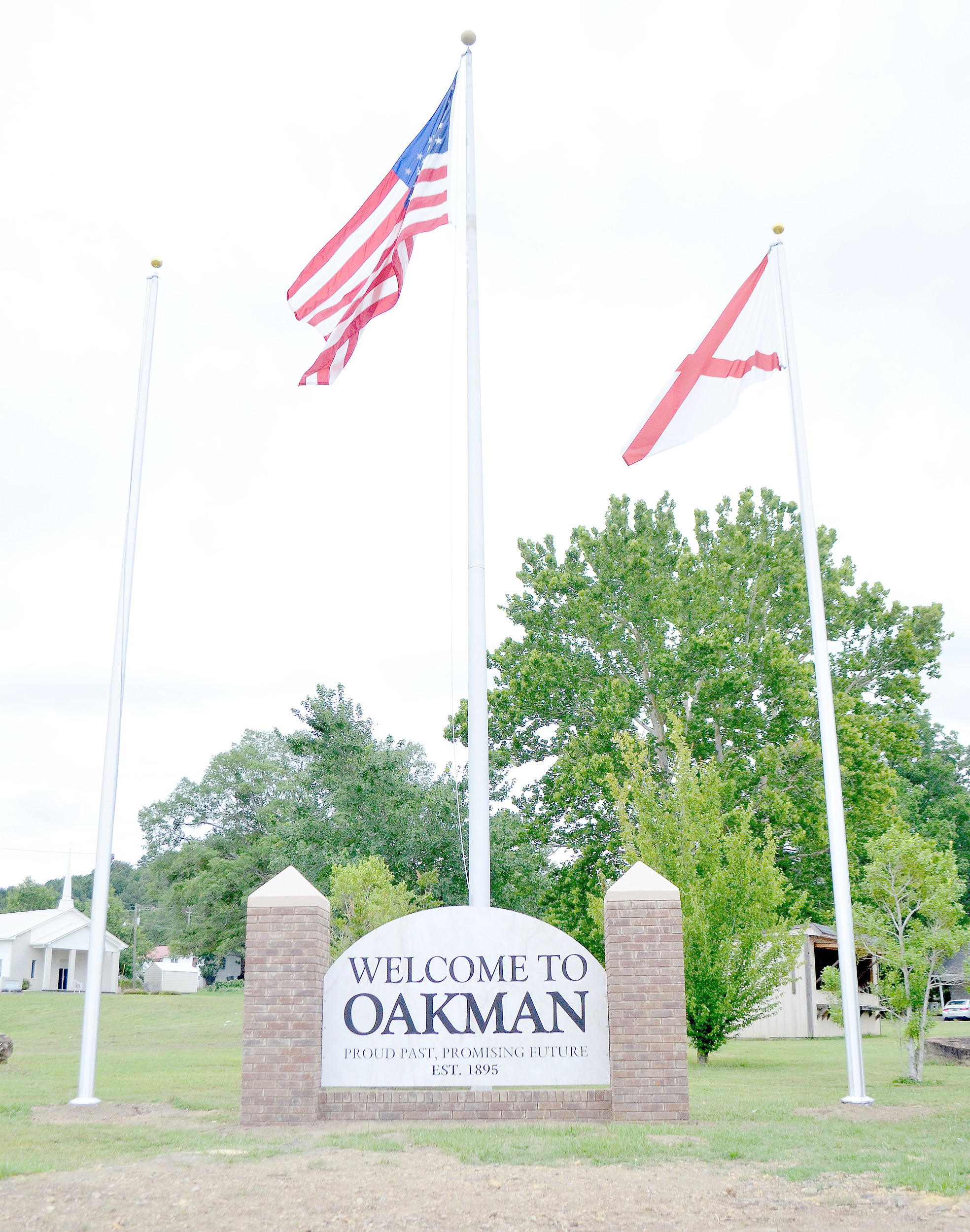 A sign in Oakman now greets community members and those passing through the town. Daily Mountain Eagle - Nicole Smith