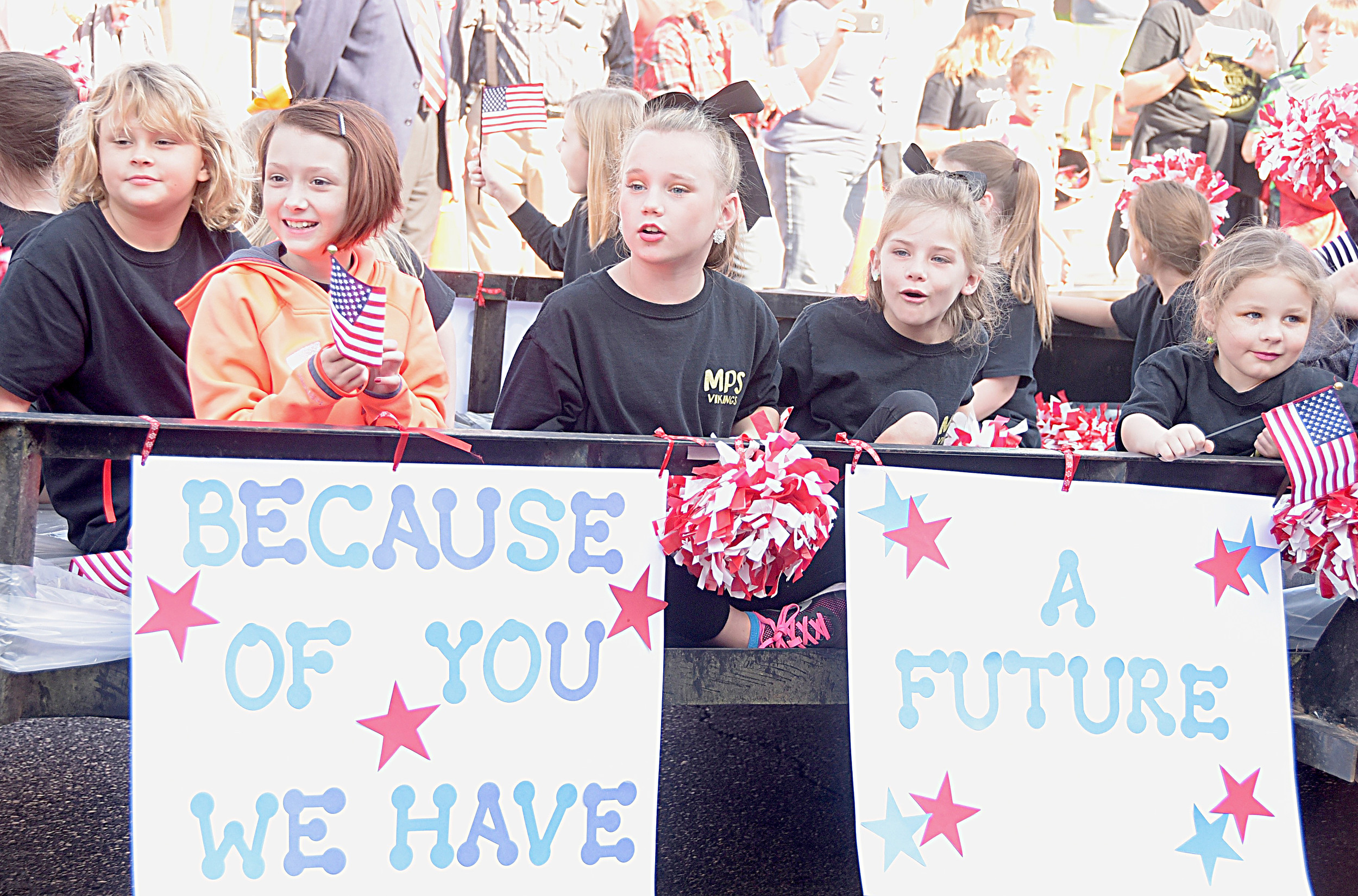 Young people are always an important part of the annual Veterans Day parade in downtown Jasper. This year's parade is planned for Saturday, Nov. 4, beginning at 10:30 a.m. Daily Mountain Eagle file - Ron Harris