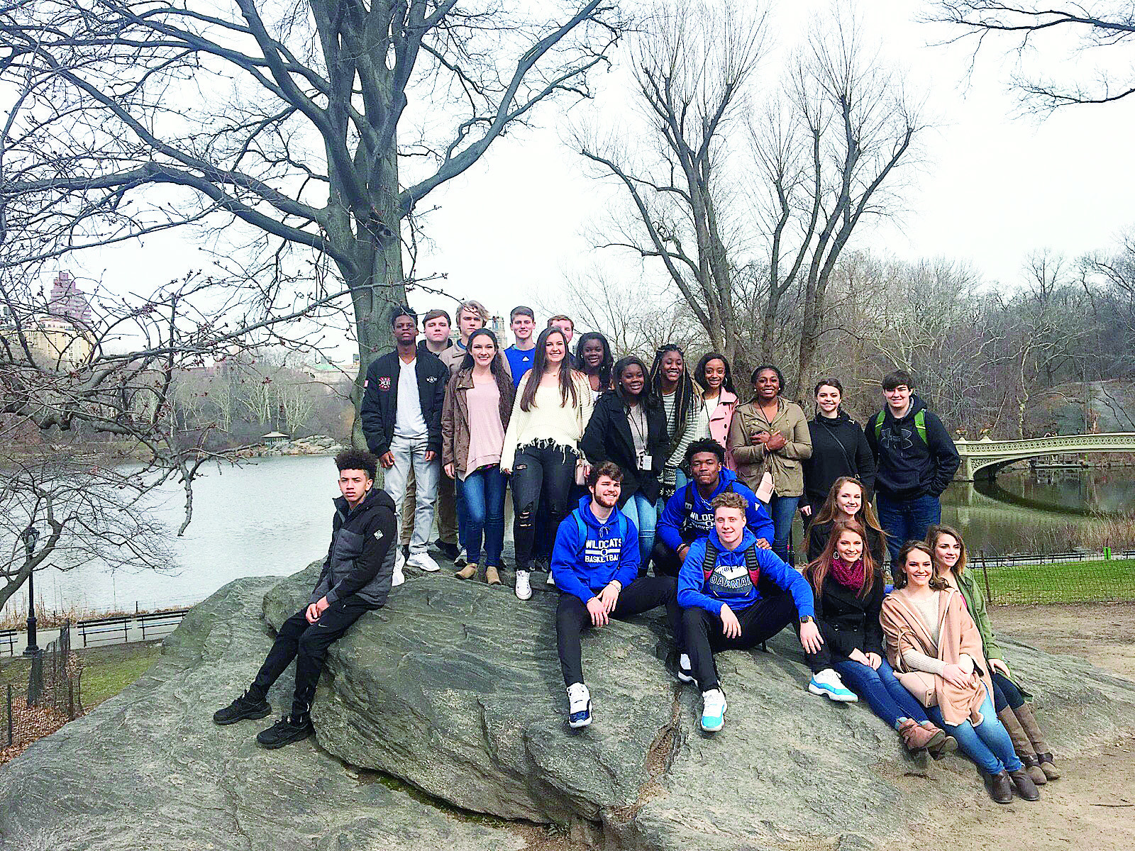 Pictured are Oakman High School SGA students at Central Park in New York.