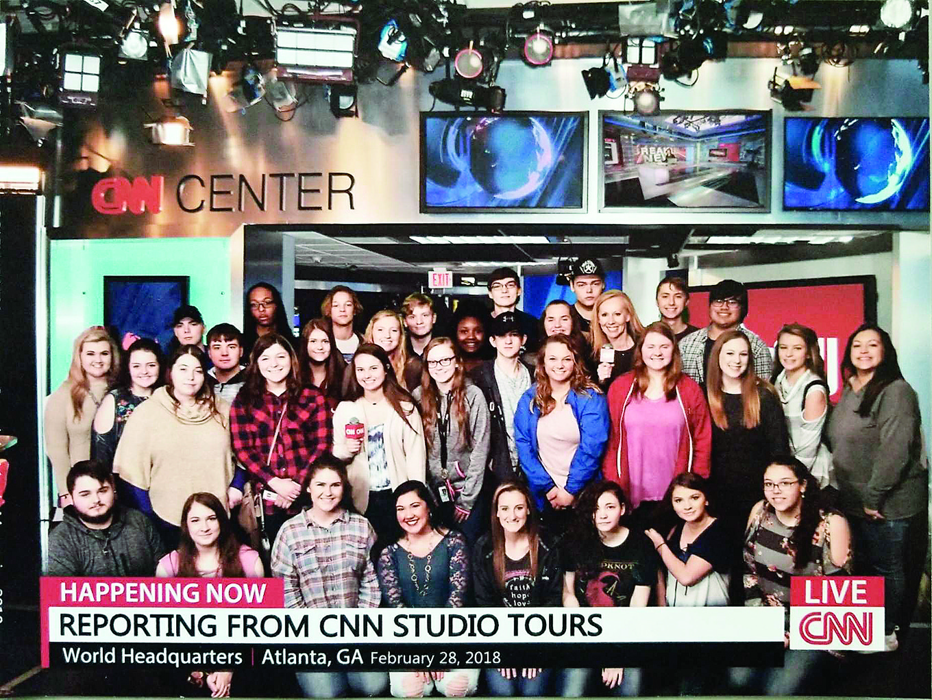 Cordova High School journalism students took a field trip to the CNN building in Atlanta last month.