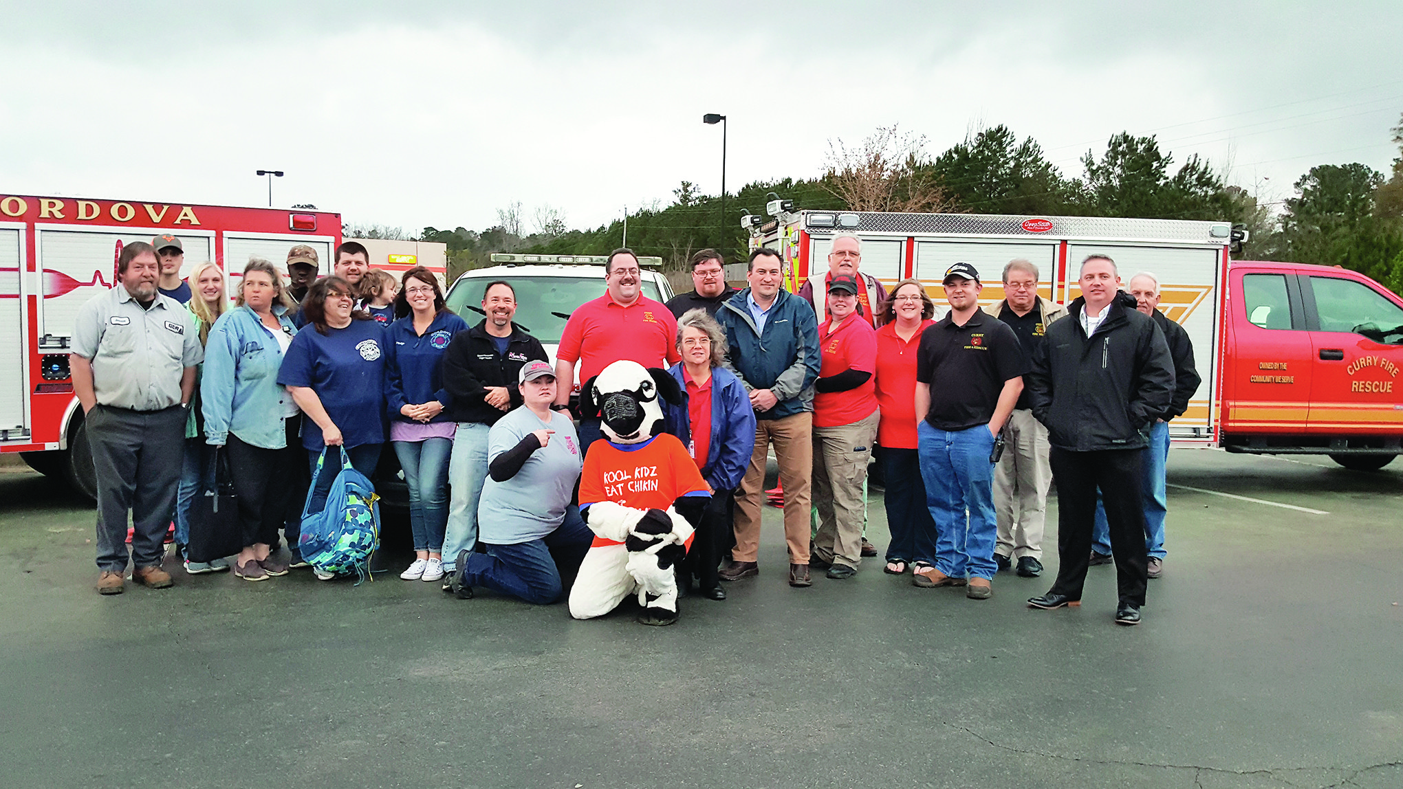 Members of the Cordova, Curry and Dora Fire Departments displayed vehicles at the second anniversary celebration of the Chik-fil-A Firefighter Aopreciation Day,  which is held quarterly at Chik-Fil-A.