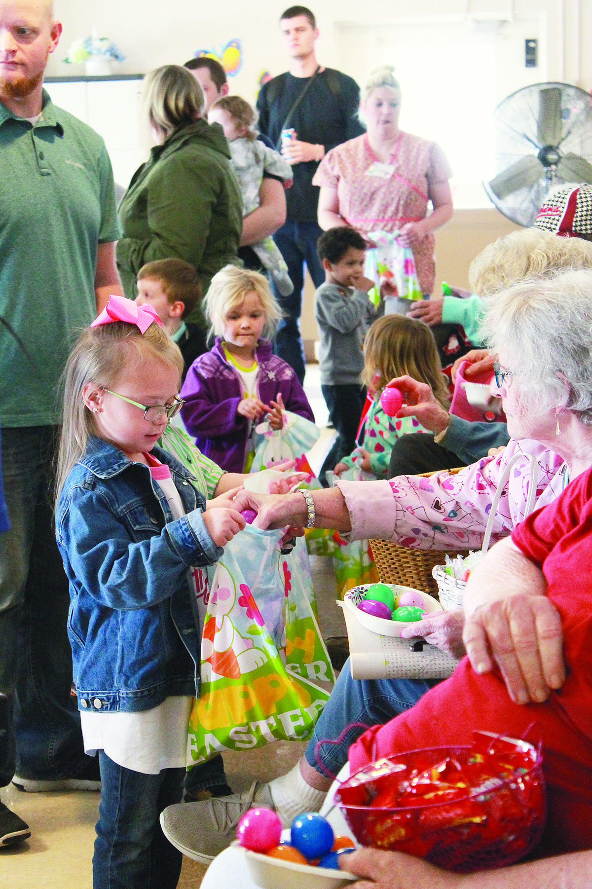 Students in Cordova Elementary School's HeadStart program participated in an Easter egg hunt at Cordova Rehabilitation Center on Friday. Residents of the nursing home look forward to the event each year, which always features a special visit from the Easter bunny.