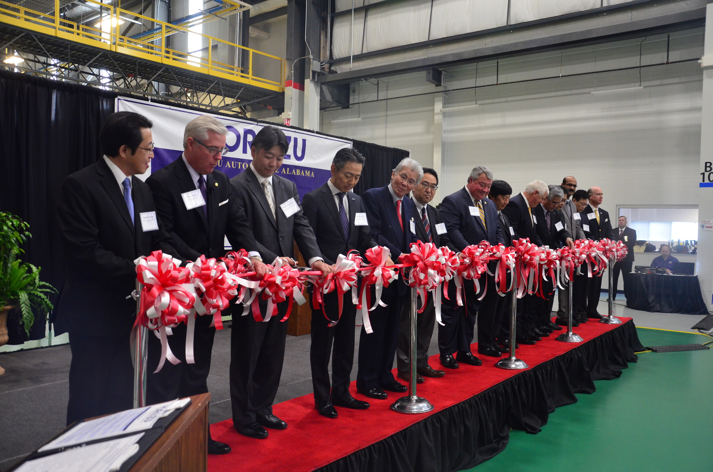 Officials held a ribbon cuttingTuesday to celebrate the grand opening of the Yorozu facility in Jasper.