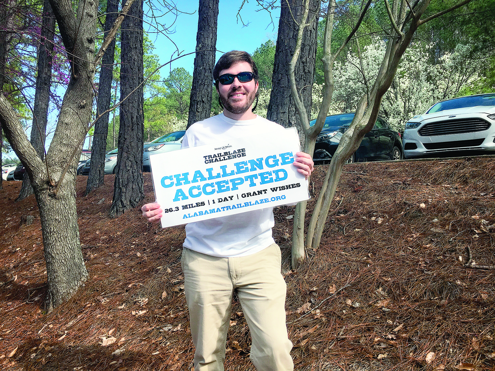 Brandon Carter of Sumiton will be participating in the Alabama Trailblaze Challenge in May. The endurance hike in Talladega National Forest is a fundraiser for Make-A-Wish Alabama.