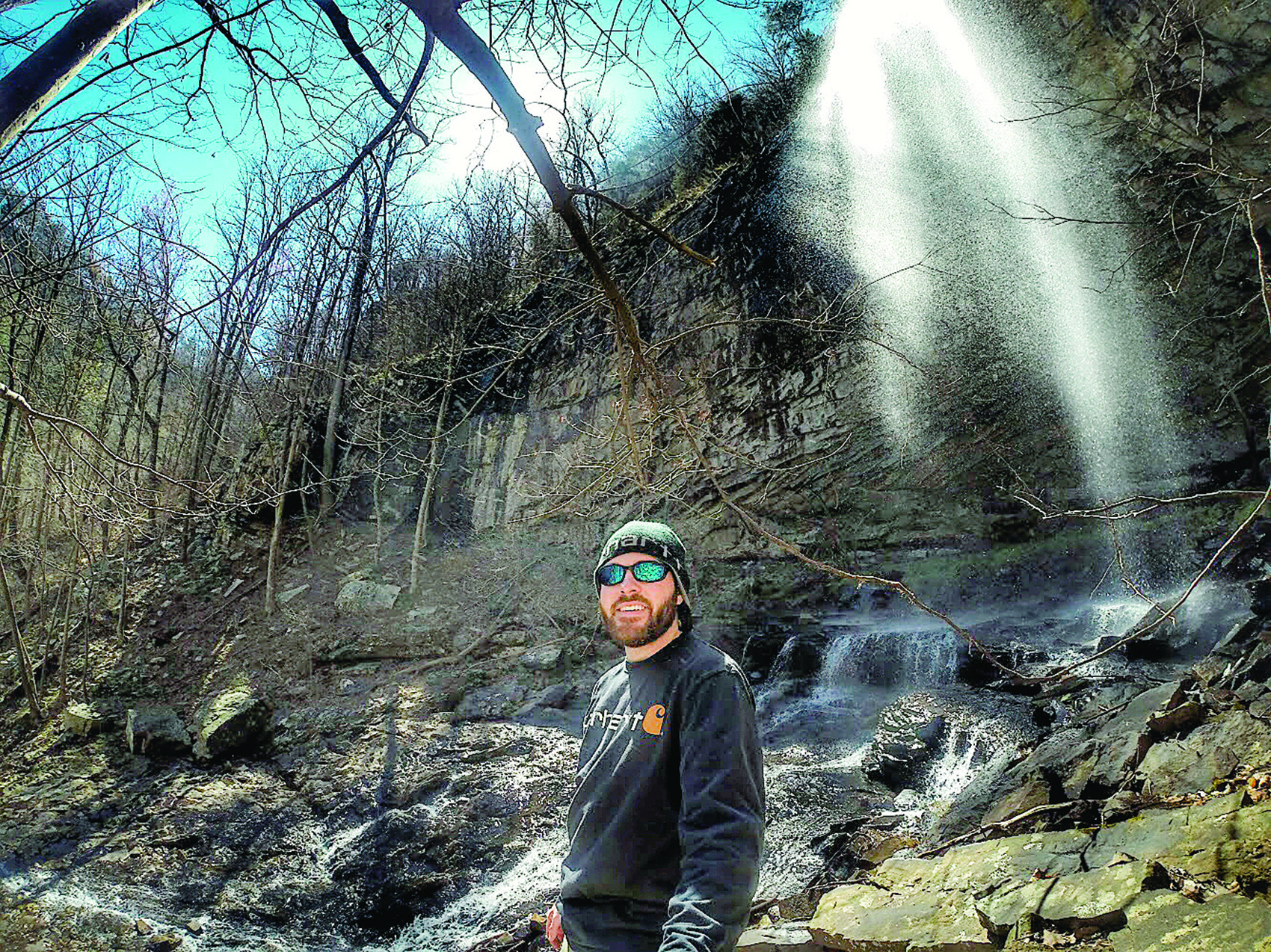 Brandon Carter, who will be hiking over 26 miles next month to raise money for Make-A-Wish Alabama, has been going on various training hikes. He recently hiked Cloudland Canyon State Park in Trenton, Georiga.