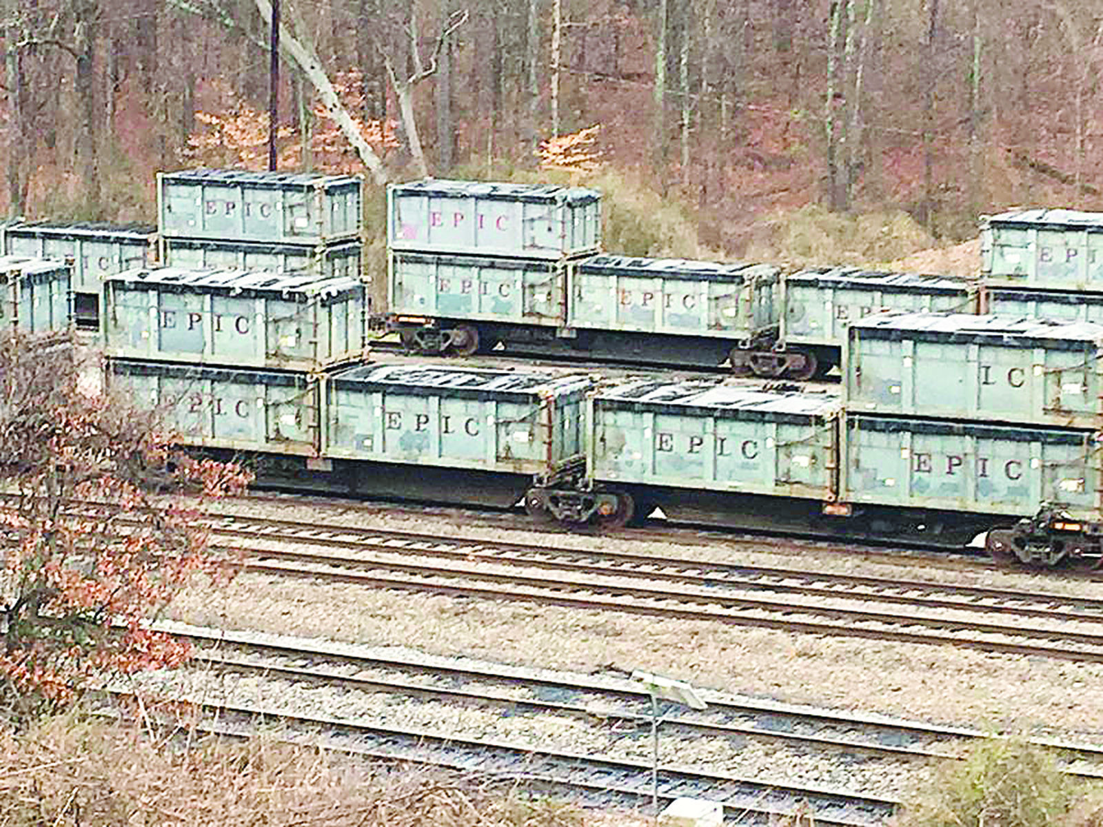 Some 250 rail cars containing bio-solid sewage waste materials that have been sitting on a Norfolk-Southern Railway spur located near downtown Parrish for several months. Some of those containers have been removed, but about 80 still remain. The containers were initially being transported by rail to Big Sky Environmental from locations in New York and New Jersey.