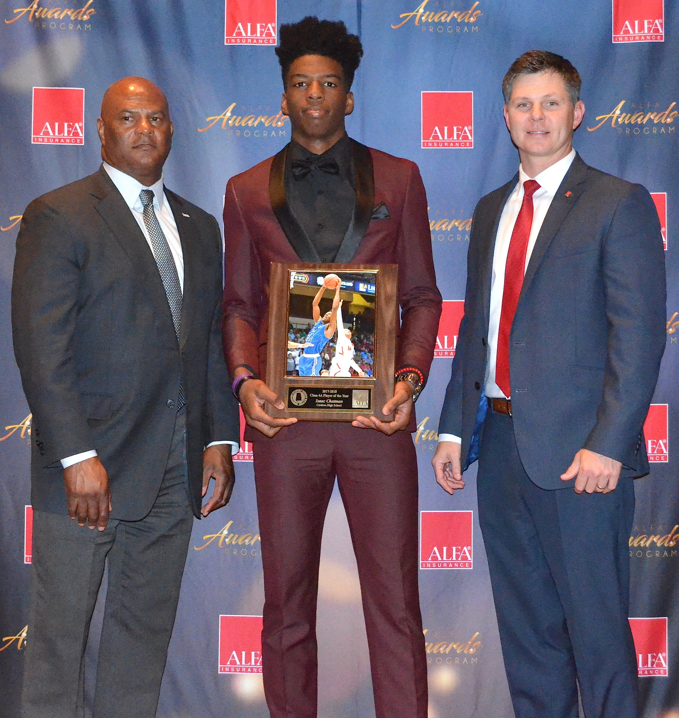 Cordova's Isaac Chatman was named Class 4A Player of the Year at the 2018 Alabama Sports Writers Association's Basketball Awards Banquet Tuesday in Montgomery.