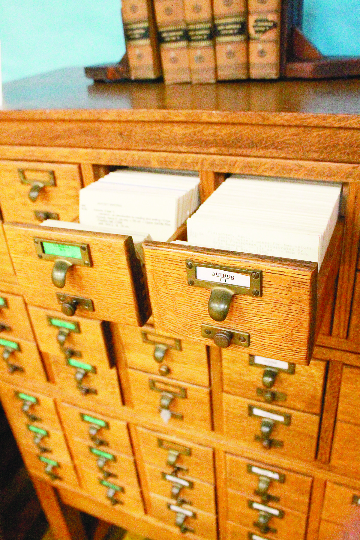 The Jasper Public Library has several historical artifacts on display through the end of the month. This card catalog was used in the Walker County Library and Sumiton Public Library. It is the only catalog that remains intact since the library system moved to a digital catalog in 2009.