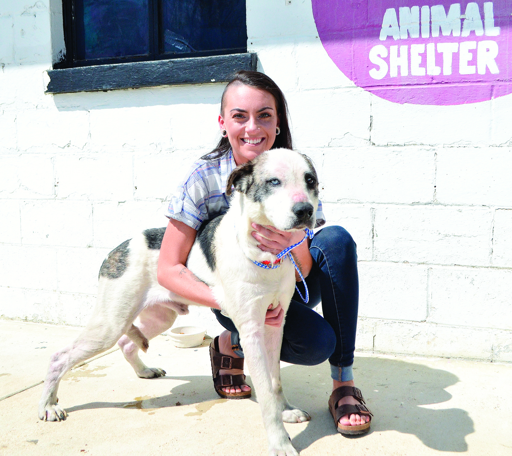 Jesika Pilgrim is the new Jasper Animal Shelter manager. She is pictured with Elvis, who was recently adopted.