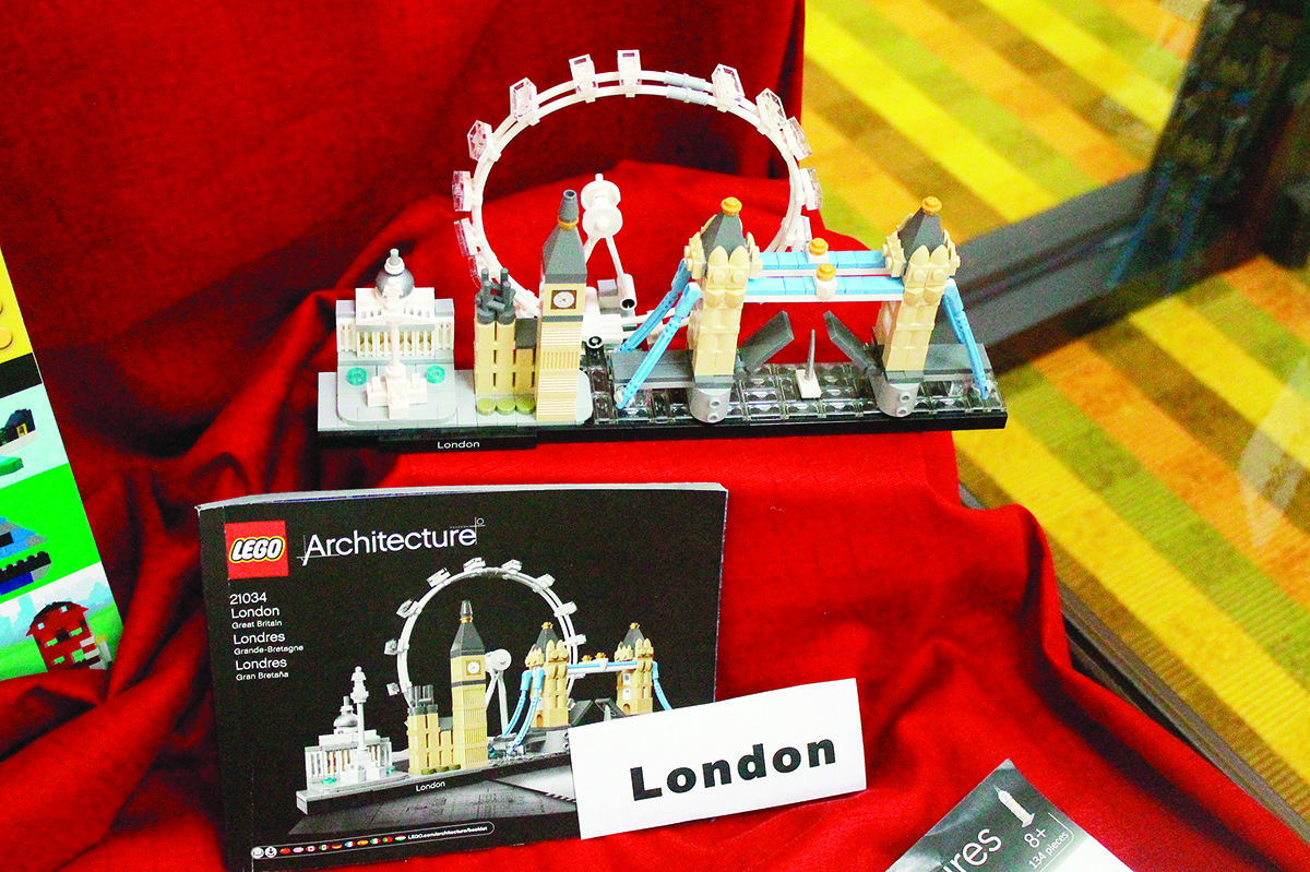 The London skyline and Big Ben are two of more than 40 architectural LEGO sets released since 2008. The Jasper Public Library is hosting a display of several sets through the end of April